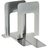 "9"" Deluxe Bookends - 9"" Height x 5.9"" Width x 8.2"" Depth - Recycled - Silver - Steel - 2 / Pair"
