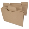 "Tree Free SuperTab® File Folders - Letter - 8 1/2"" x 11"" Sheet Size - 1/3 Tab Cut - Assorted Position Tab Location - Brown - Recycled - 24 / Pack"
