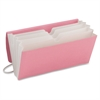 TagAlong® Organizer - 5 Pocket(s) - Pink, White - Recycled - 1 Each