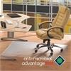 """Cleartex Advantagemat Antimicrobial Chair Mat for Hard Floors - Hardwood Floor, Tile Floor, Linoleum Floor, Hard Floor, Floor, Home, Office - 53"""" Length x 45"""" Width - Rectangle - Clear"""