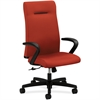 """HON Ignition Executive High-Back Chair - Fabric Cranberry Seat - Cranberry Back - Wood Frame - 5-star Base - 20"""" Seat Width x 18"""" Seat Depth - 38.5"""" Width x 27"""" Depth x 47.5"""" Height"""
