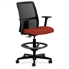 """HON Ignition Series Fabric Back Task Stool - Fabric Seat - 5-star Base - Cranberry - 19"""" Seat Width x 17"""" Seat Depth - 27.5"""" Width x 27.5"""" Depth x 53"""" Height"""