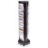 "Alba 39-slot Carousel Floor Literature Display - 230 x Sheet - 39 Compartment(s) - 0.91"" - 67"" Height x 18.5"" Width x 18.5"" Depth - Floor - Black, Black Compartment"