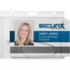 SICURIX Rigid PC ID Badge Dispensers - Horizontal - Polycarbonate - 25 / Pack - Clear