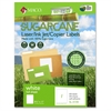 "Laser / Ink Jet / Copier Sugarcane Full Sheet Labels - Permanent Adhesive - 8.50"" Width x 11"" Length - 1 / Sheet - Rectangle - Laser, Inkjet - White - 100 / Box"