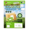 "Laser / Ink Jet / Copier Sugarcane Shipping Labels - Permanent Adhesive - 3.33"" Width x 4"" Length - 6 / Sheet - Rectangle - Inkjet, Laser - White - 600 / Box"