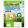 "Laser / Ink Jet / Copier Sugarcane Shipping Labels - Permanent Adhesive - 2"" Width x 4"" Length - 10 / Sheet - Rectangle - Inkjet, Laser - White - 1000 / Box"