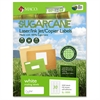 "Laser / Ink Jet File / Copier Sugarcane Address Labels - Permanent Adhesive - 1"" Width x 2.63"" Length - 30 / Sheet - Rectangle - Inkjet, Laser - White - 3000 / Box"