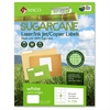 "MACO Laser / Ink Jet File / Copier Sugarcane Name Badge Labels - Permanent Adhesive - 2.33"" Width x 3.38"" Length - 8 / Sheet - Rectangle - Inkjet, Laser - White - 400 / Box"