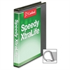 "Cardinal Speedy XtraLife Slant-D Ring Binder - 1"" Binder Capacity - Letter - 8 1/2"" x 11"" Sheet Size - D-Ring Fastener - 2 Pocket(s) - Polyolefin-covered Chipboard - Black - 1 Each"
