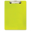 "Low-profile Clip Letter-size Clipboard - 8.50"" x 11"" - Low-profile - Plastic - Neon Yellow"
