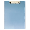 "Low-profile Clip Acrylic Clipboard - 8.50"" x 11"" - Low-profile - Acrylic - Blue"