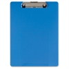 "OIC Low-profile Clip Plastic Clipboard - 8.50"" x 11"" - Low-profile - Acrylic - Blue"