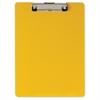 "Low-profile Plastic Clipboard - 8.50"" x 11"" - Low-profile - Plastic - Yellow"