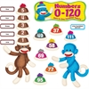 Trend Sock Monkeys Coll. Bulletin Brd Numbers Set - Theme/Subject: Learning - Skill Learning: Number, Number Word, Color - 266 Pieces - 3-8 Year