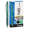Pilot G2 Limited Retractable Gel Roller Pens - Fine Point Type - 0.7 mm Point Size - Refillable - Green Gel-based Ink - Green Metal Barrel - 1 Dozen