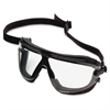 3M Low-profile Medium GoggleGear Safety Goggles - Medium Size - Ultraviolet Protection - Foam, Polycarbonate Lens - Clear, Black - 1 Each