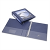 "SKILCRAFT Frame View Binders - Navy Blue, 1-1/2"" - 1 1/2"" Binder Capacity - Letter - 8 1/2"" x 11"" Sheet Size - 3 x D-Ring Fastener(s) - Internal Pocket(s) - Navy Blue - Recycled - 1 Each"