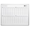 SKILCRAFT Quartet 4-Month Dry Erase Calendar - 4'W x 3'L, Undated - Monthly, Daily - 4 Month - Aluminum - Aluminum - Durable, Dry Erase Surface