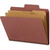 "SuperTab® Classification Folders - Letter - 8 1/2"" x 11"" Sheet Size - 2"" Expansion - 2"" Fastener Capacity for Folder - Right of Center Tab Location - 25 pt. Folder Thickness - Pressboard, Ty"