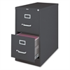 """26-1/2"""" Vertical File Cabinet - 15"""" x 26.5"""" x 28"""" - 2 x Drawer(s) for File - Letter - Vertical - Drawer Extension, Security Lock, Label Holder, Pull Handle - Charcoal - Aluminum, Steel - Recycl"""