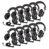 Califone 3068AV-10L Switchable Headphones Classpk - Stereo - Black - Mini-phone - Wired - 36 Ohm - Over-the-head - Binaural - Circumaural - 10 ft Cable