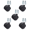 "Lorell Premium Dual Hard Wheel Casters Set - 1.97"" Diameter - Nylon, Metal - Black"