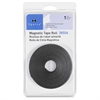 "38506 Magnetic Tape Roll - 0.50"" Width x 10 ft Length - Adhesive Backing - Flexible, Magnetic - 1 Each - Black"