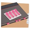 "Redi-Tag BCA Pop-up Page Flags - 140 x Pastel Pink - 0.47"" x 1.70"" - Rectangle - Pastel Pink - Self-adhesive, Writable, Removable, Removable, Residue-free - 140 / Pack"