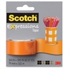 "Scotch Expressions Magic Tape - 0.75"" Width x 25 ft Length - 1"" Core - Removable, Repositionable, Writable Surface - Dispenser Included - Handheld Dispenser - 1 / Roll - Matte Orange"
