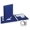 "Avery Durable Binder with EZD Rings - 1"" Binder Capacity - 275 Sheet Capacity - 3 x D-Ring Fastener(s) - 4 Pocket(s) - Internal Tab Location - Poly - Navy Blue - Recycled - 1 Each"