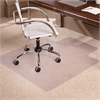 """ES Robbins Everlife Chairmat - Office, Home, School, Indoor - 60"""" Length x 46"""" Width x 0.38"""" Thickness - Lip Size 25"""" Length x 12"""" Width - Clear"""