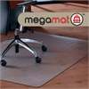 "Cleartex Megamat Heavy-Duty Chair Mat for Hard Floors or All-pile Carpets - Home, Workstation, Hard Floor, Carpet, Office - 35"" Length x 47"" Width - Rectangle - Polycarbonate - Clear"