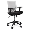 "Lorell Flex Back Task Chair - Fabric White Seat - Plastic White Back - 5-star Base - 18.50"" Seat Width x 17.50"" Seat Depth - 24"" Width x 24"" Depth x 35.8"" Height"