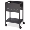 "18"" File Cart - 1 Shelf - 4 Casters - 1.88"" Caster Size - Steel - 13.3"" Width x 18"" Depth x 27"" Height - Black"