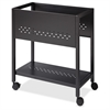 "24"" File Cart - 4 Casters - 1.88"" Caster Size - Steel - 13.3"" Width x 24"" Depth x 27"" Height - Black"