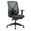 "Steel Frame Mid-back Chair - Fabric Black Seat - Black Back - Steel Frame - 5-star Base - Black - 18.50"" Seat Width x 18.50"" Seat Depth - 27.8"" Width x 28"" Depth x 41.5"" Height"