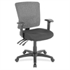 "Lorell Low-Back Mesh Chair - Fabric Black Seat - Nylon Gray Back - 5-star Base - Black - 19.30"" Seat Width x 18.90"" Seat Depth - 27"" Width x 26"" Depth x 40"" Height"