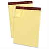 "Gold Fibre Narrow Ruled Prem. Writing Pads - 50 Sheets - Watermark - Stapled/Glued - 16 lb Basis Weight - Letter 8.50"" x 11.75"" - Canary Yellow Paper - 1Dozen"