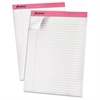 "TOPS Writing Pads - 50 Sheets - Printed - 20 lb Basis Weight - Letter 8.50"" x 11"" - White Paper - 6 / Pack"