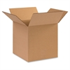 "BOX Partners Multipurpose Cube Boxes - External Dimensions: 10"" Width x 10"" Depth x 10"" Height - 200 lb - Stackable - Kraft - 25 / Pack"