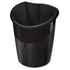 """Isis Collection 4-gallon Recycled Waste Bin - 4 gal Capacity - 15.6"""" Height x 12"""" Width x 8.5"""" Depth - Polypropylene - Black"""
