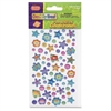 ChenilleKraft Peel/Stick Flower/Stars Gemstones - Learning, Fun Theme/Subject - Dazzling Flowers - Easy Peel - Assorted - 432 / Set