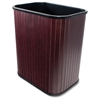 "Rectangular Waste Basket - 4.25 gal Capacity - Rectangular - 16.4"" Height x 14.3"" Width x 10"" Depth - Wood - Mahogany"