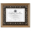 """Dax Textured Mat Florence Document Frame - 14"""" x 11"""" Frame Size - Rectangle - Wall Mountable - Vertical, Horizontal - Gold, Black, Gold"""