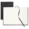 "Professional Classic Leather Journal - 160 Sheets - Printed 5.50"" x 7.75"" - Black Cover - Leather Cover - 1Each"
