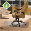 """Ecotex Evolutionmat Chair Mat for Standard-pile Carpets - Home, Office, Carpet - 51"""" Length x 48"""" Width - Lip Size 12"""" Length x 25"""" Width - Rectangle - Polymer - Green Tint"""