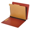 "Pendaflex Dual Tab Legal Classification Folders - Legal - 8 1/2"" x 14"" Sheet Size - 3/4"" Expansion - 4 Fastener(s) - 2"" Fastener Capacity for Divider, 1"" Fastener Capacity for Folder - Straight Tab Cu"