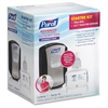 Purell LTX-7 Sanitizer Dispenser Starter Kit - Automatic - 23.7 fl oz (700 mL) - Chrome Black