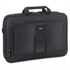 "Lorell Carrying Case (Briefcase) for 17.3"" Notebook, iPad, Accessories - Black - Polyester - Handle, Shoulder Strap - 12.5"" Height x 17.5"" Width x 3"" Depth"